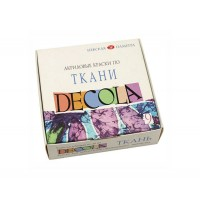 Набор красок по ткани Decola 9 цветов по 20 мл