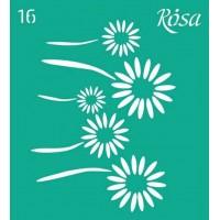 Трафарет Rosa № 16 Цветы 9х10см