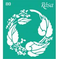 Трафарет Rosa № 80 Цветы 9х10см