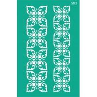 Трафарет на клеевой основе №503, Ажур, 13х20см