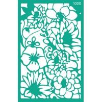 Трафарет на клеевой основе №1000, Цветы, 13х20см