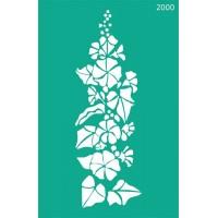 Трафарет на клеевой основе №2000, Цветы, 13х20см