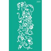 Трафарет на клеевой основе №2001, Цветы, 13х20см
