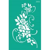 Трафарет на клеевой основе №2002, Цветы, 13х20см