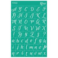 Трафарет Rosa № 1703 Алфавиты 13х20см