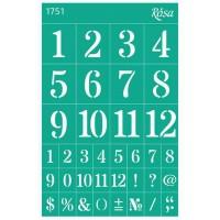 Трафарет на клеевой основе №1751, Цифры, 13х20см