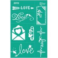 Трафарет на клеевой основе №2019, Love, 13х20см