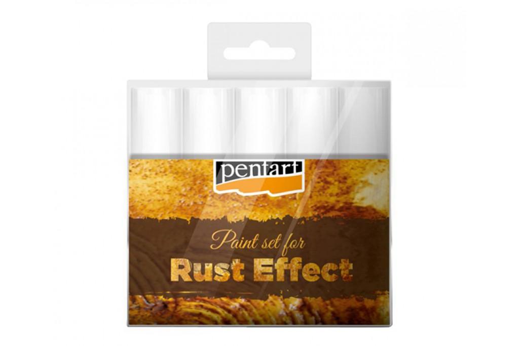 Набор Pentart Rust Effect Set для эффекта ржавчины 5 цветов по 20 мл