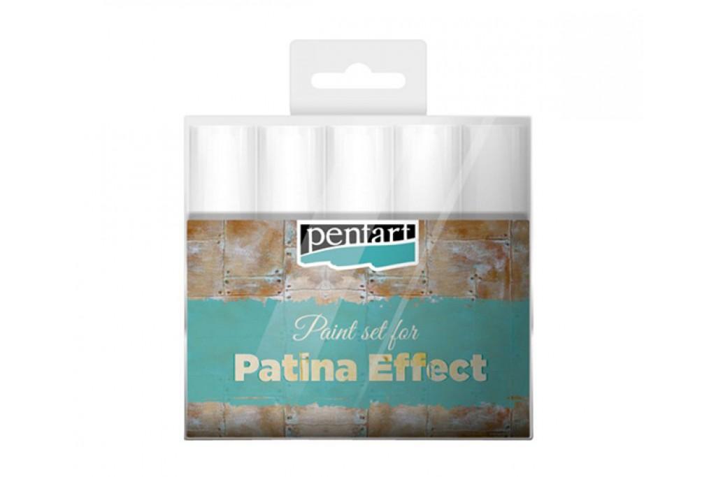 Набор материалов Pentart Patina Effect для платинирования 5 цветов 20 мл (5997412798258)