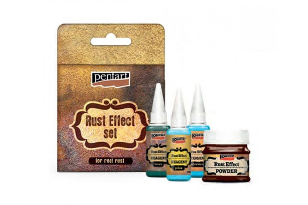 Набор Pentart Rust Effect Set для эффекта ржавчины 4 шт (5997412796032)