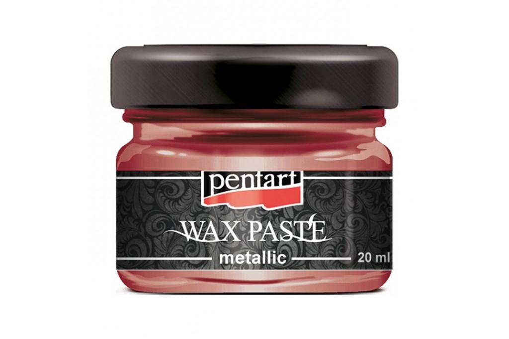 Паста восковая Pentart Wax Paste красное золото 30 мл