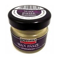 Паста восковая Pentart Wax Paste золото белое 30 мл