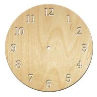 Основа для часов, Круг арабские 12, 30см, фанера