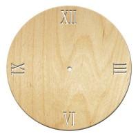 Основа для часов, Круг римские 4, 30см, фанера