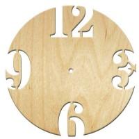Основа для часов, Круг цифры большие, 30см, фанера