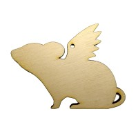 Высечка Крыска с крыльями 1 10х7,5см фанера