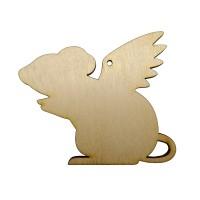 Высечка Крыска с крыльями 2 10х8,5см фанера