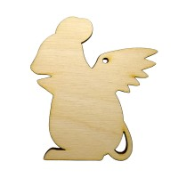 Высечка Крыска с крыльями 3 9х8см фанера