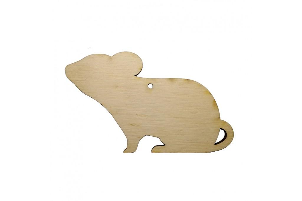 Высечка для декупажа и декорирования Крыска 3 10 х 6 см фанера