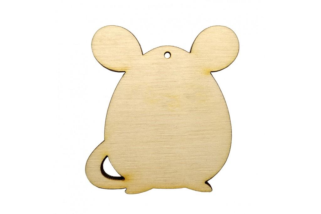 Высечка для декупажа и декорирования Мышка 1 10 х 9,5 см фанера