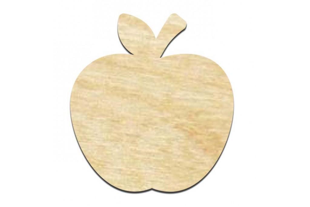 Высечка для декупажа и декорирования, Яблуко, 4мм, фанера