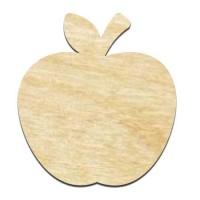 Высечка, Яблуко, 4мм, фанера (4 размера)