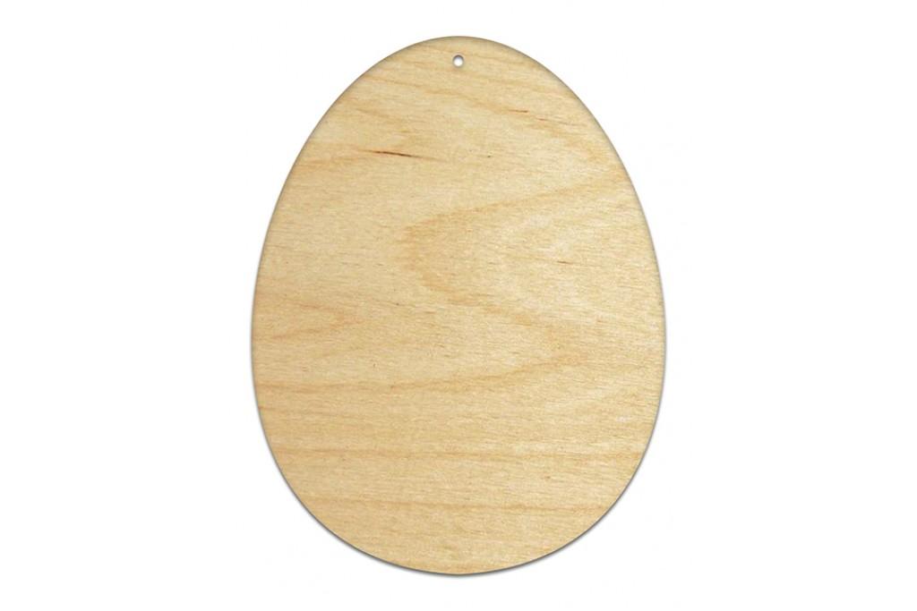 Высечка для декупажа и декорирования, Яйцо, 4мм, фанера