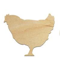 Высечка, Курица, 4мм, фанера (3 размера)