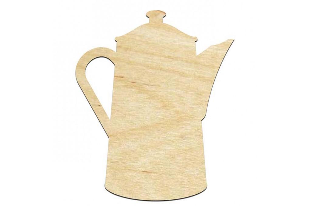 Высечка для декупажа и декорирования, Чайник, 12х10см, 4мм, фанера