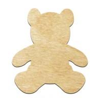 Высечка, Медвеженок, 4мм, фанера (2 размера)