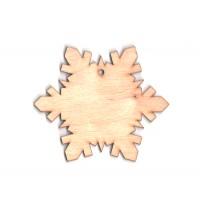 Высечка, Снежинка 1, 10х8,5см, 4мм, фанера