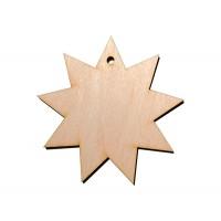 Высечка, Звезда 3, 4мм, фанера (2 размера)