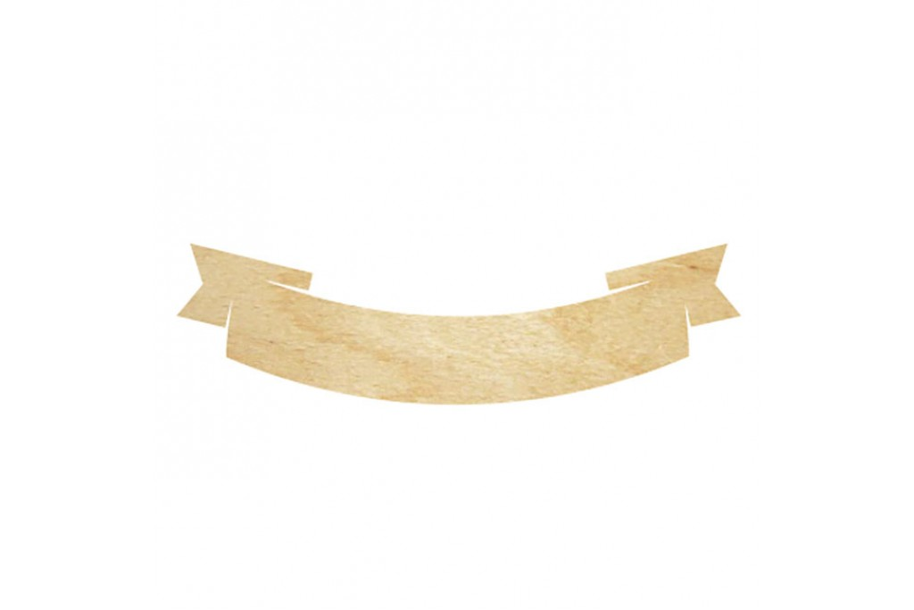 Высечка для декупажа и декорирования, Лента 1, 7см, 4мм, фанера