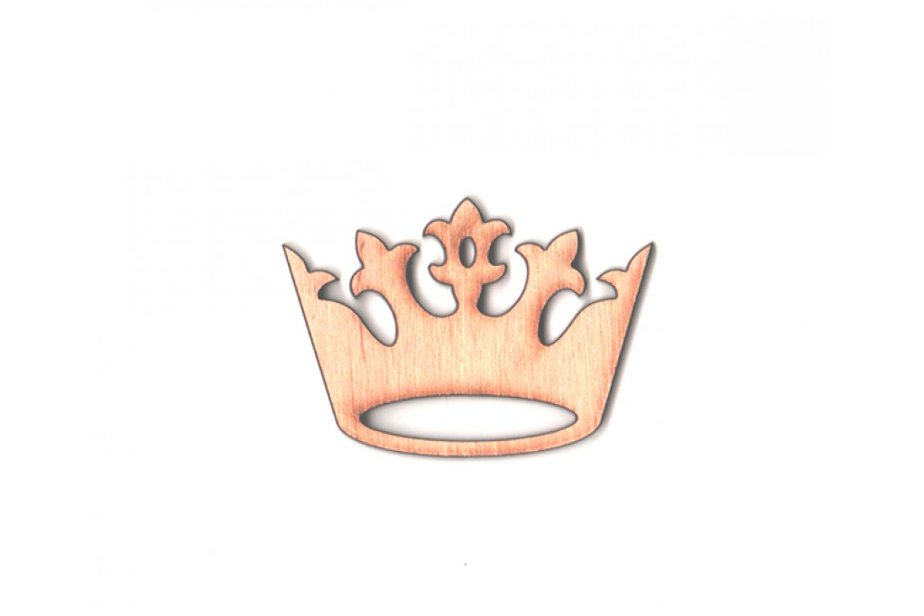 Высечка для декупажа и декорирования, Корона 1, 6см, 4мм, фанера