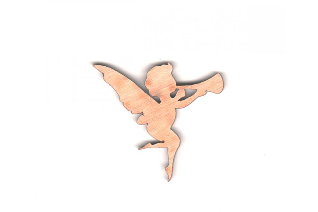Высечка для декупажа и декорирования, Ангел 3, 6см, 4мм, фанера