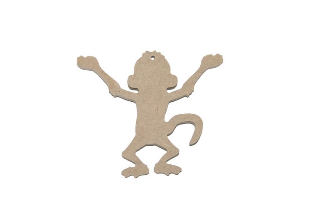 Подвеска для декупажа, обезьяна №2, 10см, МДФ