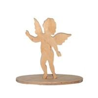Новогодний декор на подставке Ангел, 15см, фанера