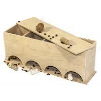 Коробка для чайных пакетиков, 39х12х15см, фанера