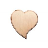 Панно Сердце изгиб 20х19см, 6мм, фанера