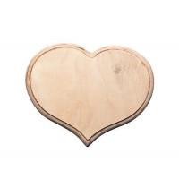 Панно Сердце 20х16см, 6мм, фанера