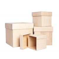 Короб с крышкой, фанера (4 размера)