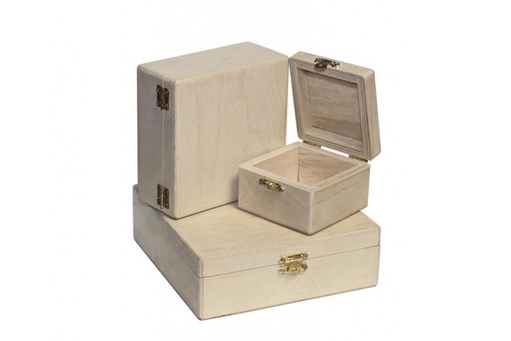 Заготовка для декупажа шкатулка квадратная фанера