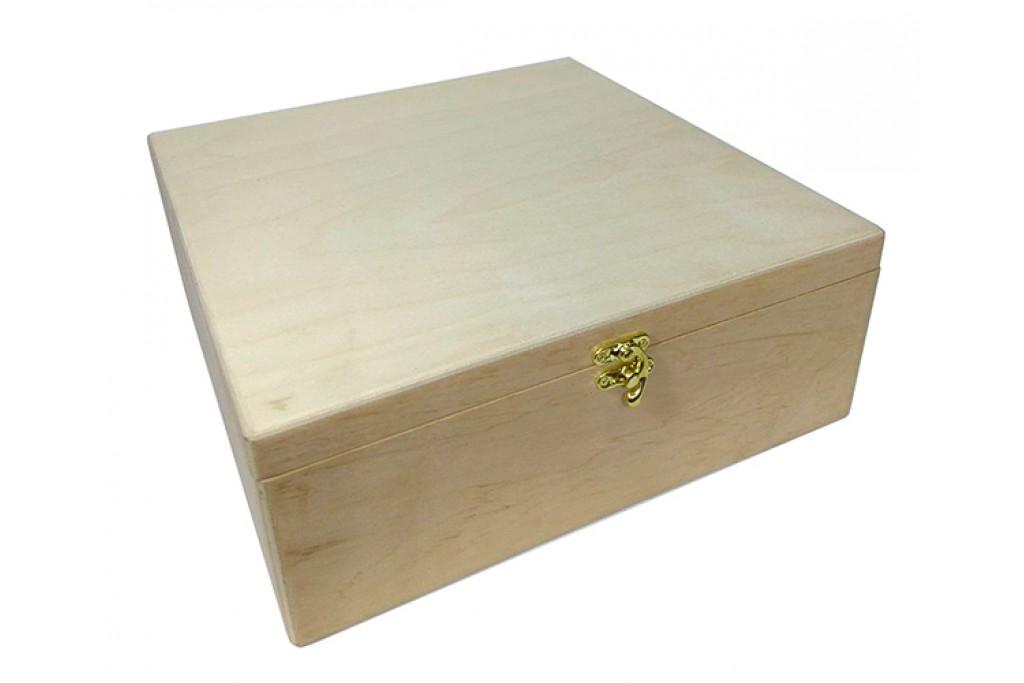 Заготовка для декупажа шкатулка Мамины сокровища прямая с перегородками 30x30х11см фанера