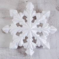 Пенопластовая снежинка 21 см 1 шт