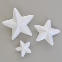 Пенопластовые звезды 5/8/10 см 3 шт