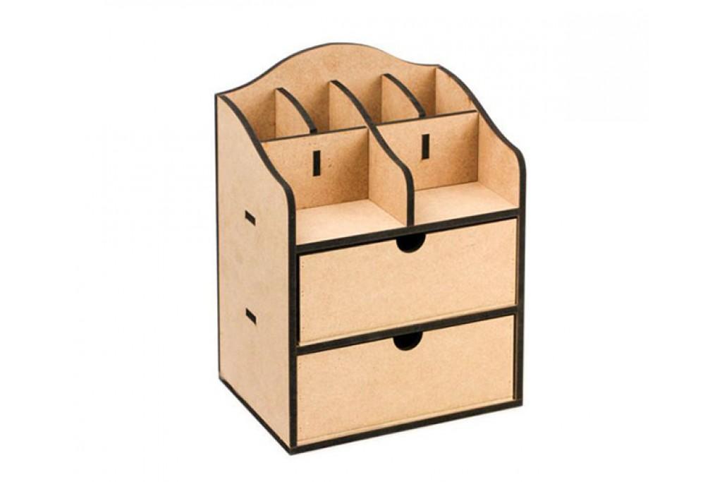 Заготовка для декупажа комод органайзер 1 ящик 30х15х23см МДФ