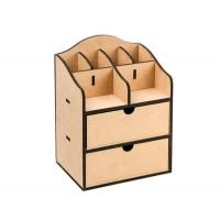 Комод-органайзер, 2 ящика, 20х15х26см, МДФ