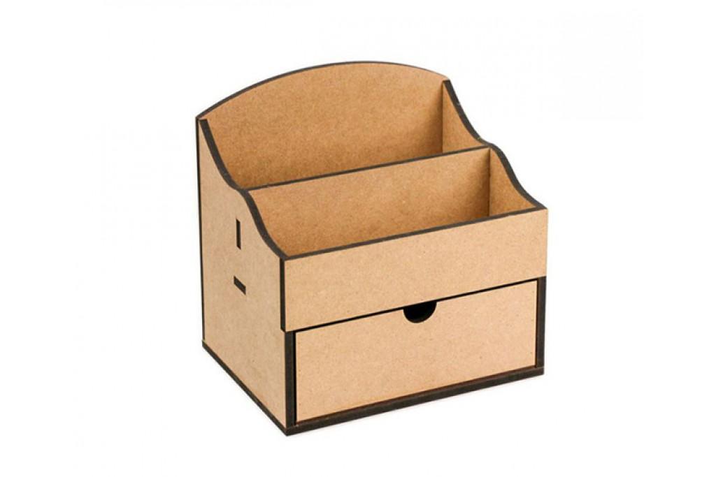 Заготовка для декупажа комод органайзер 2 ящика 20х15х26см МДФ