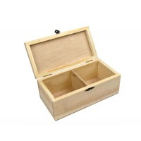 Шкатулка деревянная, две секции, 10x20х8см, ROSA Talent